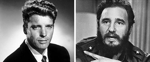 Burt Lancaster e Fidel Castro