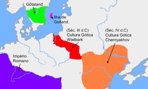 Presença dos Góticos na época do Império Romano