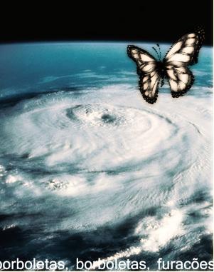 Sobre borboletas e furacões, ilustração.