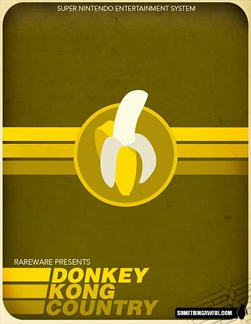 Redesenho da embalagem do jogo Donkey Kong Country