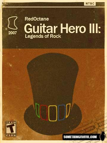 Redesenho de emabalagem do jogo Guitar Hero III