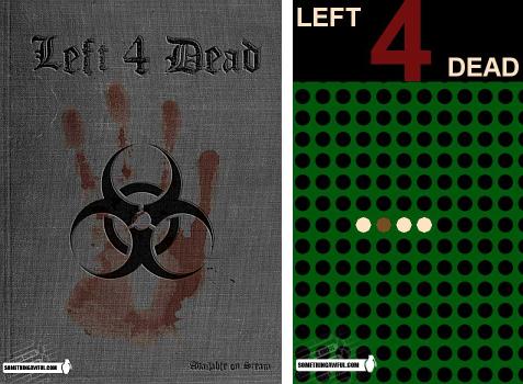 Dois redesenhos da embalagem de Left 4 Dead