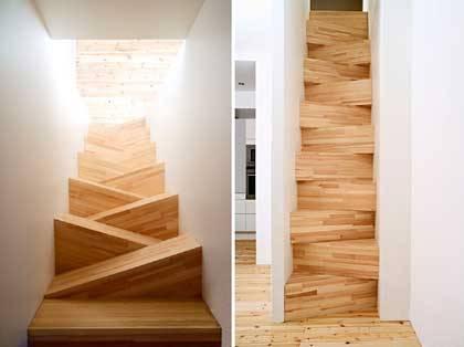 Escada diagonal, design de Gabriella Gustafson e Mattias Ståhlbom