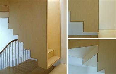 Escada de cabeça para baixo.