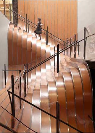 Escada em ondas.