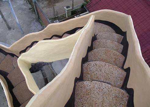 Escada escultura, visão do topo.
