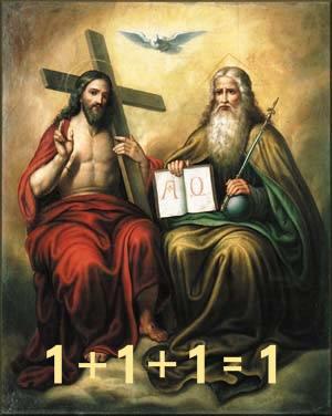 O mistério da Santissima Trindade.